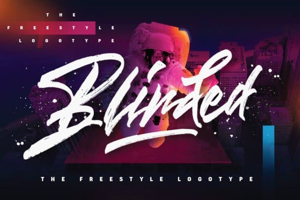 Download Blinded - Freestyle Logotype font (typeface)