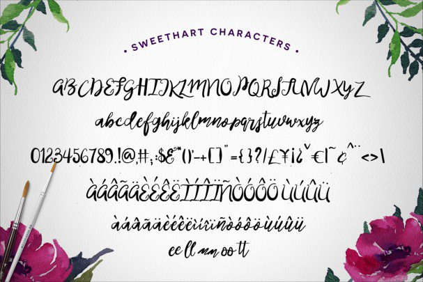 Download Sweethart font (typeface)