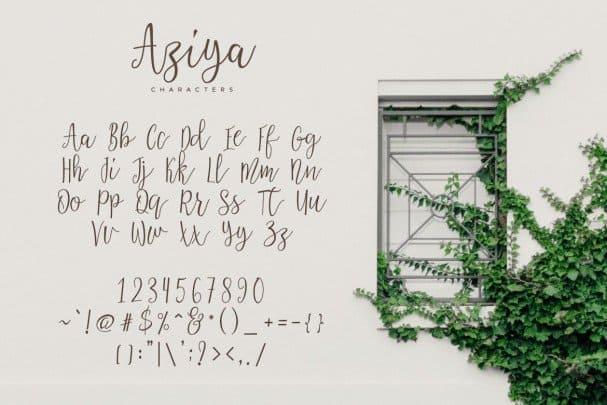 Download Aziya font (typeface)