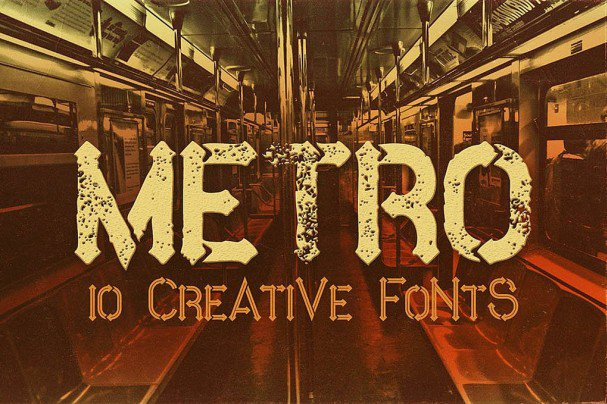Download Metro - 10 Fonts Family font (typeface)
