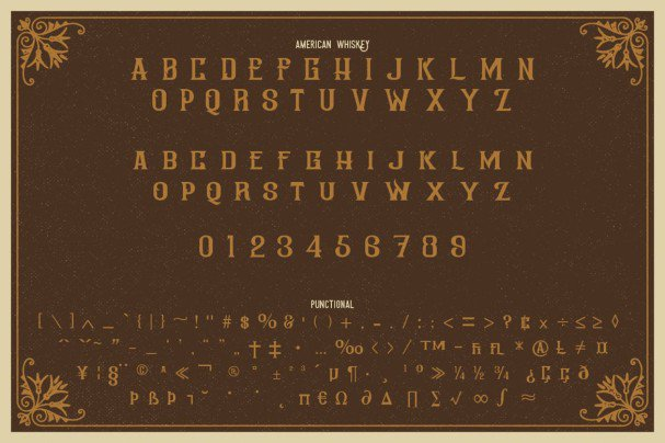 Download American Whiskey font (typeface)