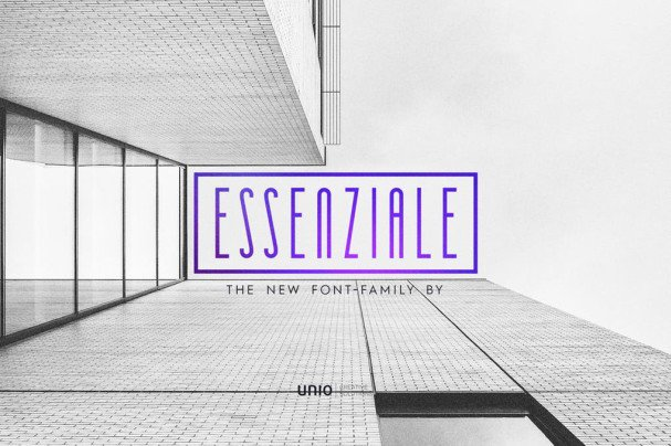 Download Essenziale - Font Family font (typeface)
