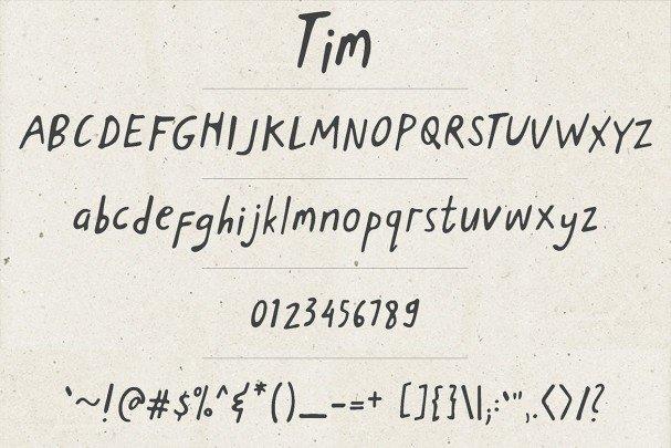 Download Tim font (typeface)