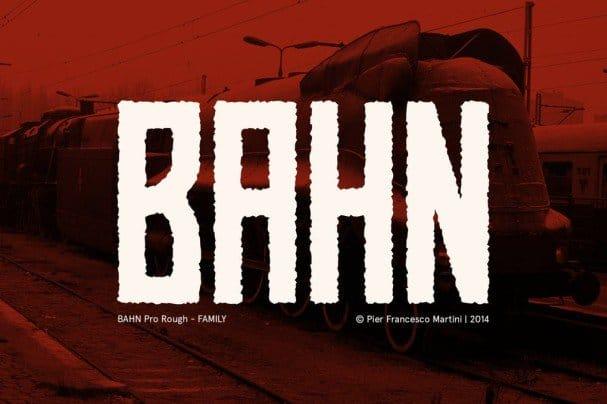 Download BAHN Pro Rough - FAMILY font (typeface)