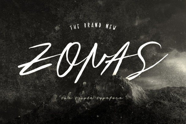 Download Zonas Brush Typeface font (typeface)
