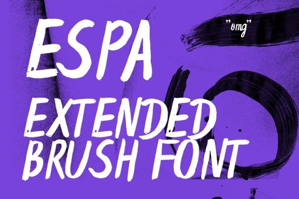 Download Espa Extended Handwritten Brush Font font (typeface)