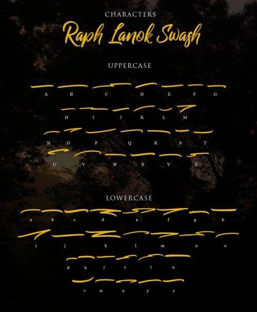 Download Raph Lanok Typeface font (typeface)