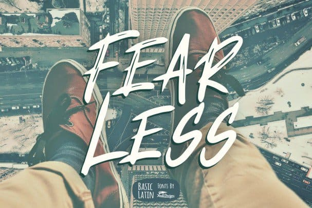 Download Fear Less Font font (typeface)
