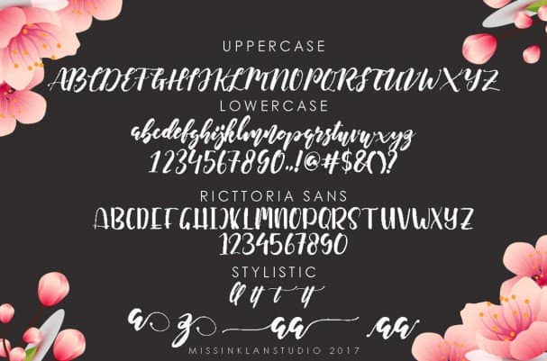 Download Ricttoria Font Duo font (typeface)