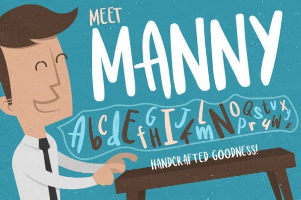 Download Meet Manny Typeface font (typeface)