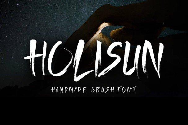 Download Holisun - Handmade Brush font (typeface)