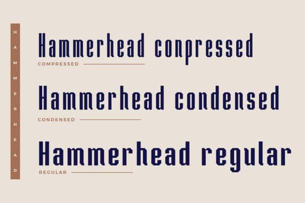 Download Hammerhead Typeface font (typeface)