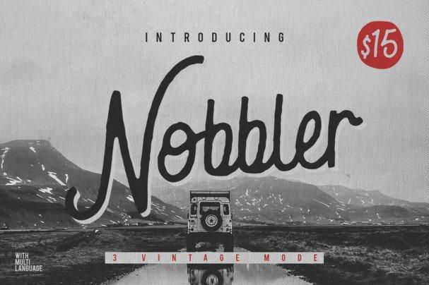 Download Nobbler Typeface font (typeface)