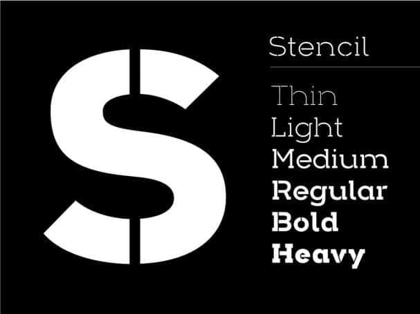 Download Arkibal Stencil Serif font (typeface)