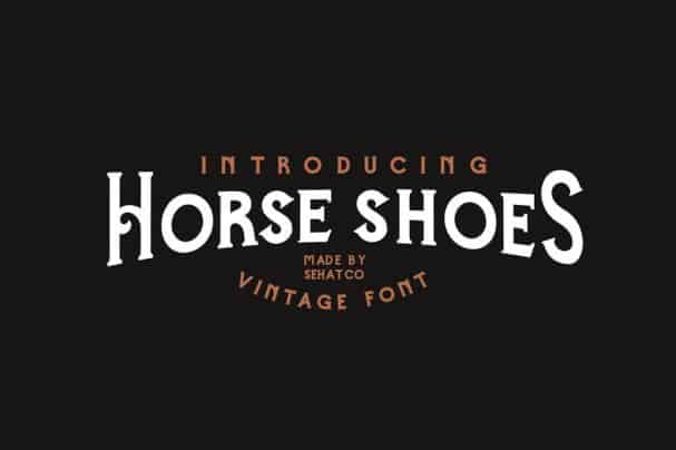 Download Horse Shoes Font font (typeface)
