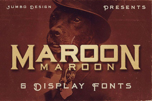 Download Maroon - Vintage Style font (typeface)