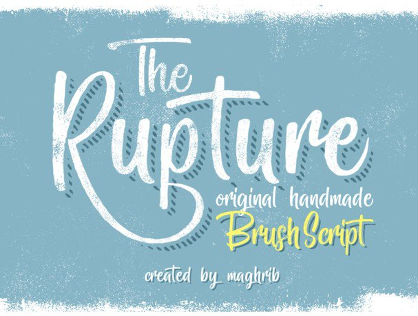 Download The Rupture 3 Styles font (typeface)