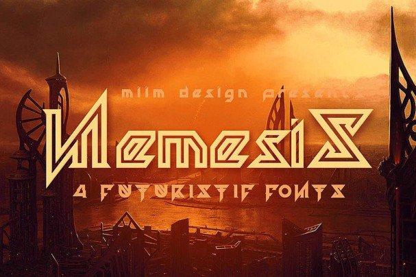 Download Nemesis - Futuristic Font font (typeface)