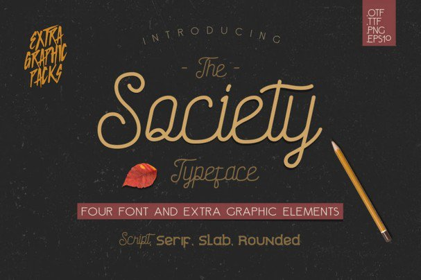 Download Society Typeface font (typeface)