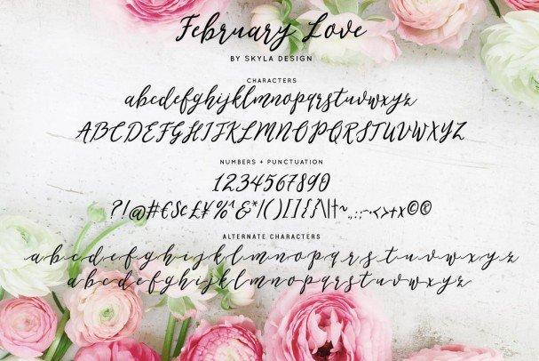 Download Flirty feminine, February Love font (typeface)