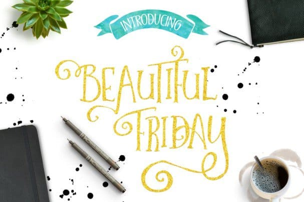 Download Beautiful Friday font (typeface)