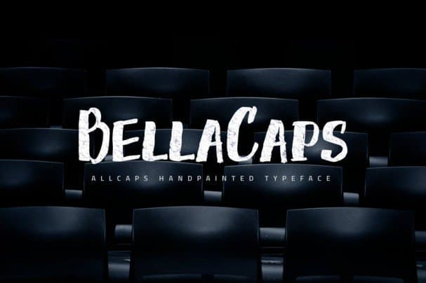 Download BellaCaps font (typeface)