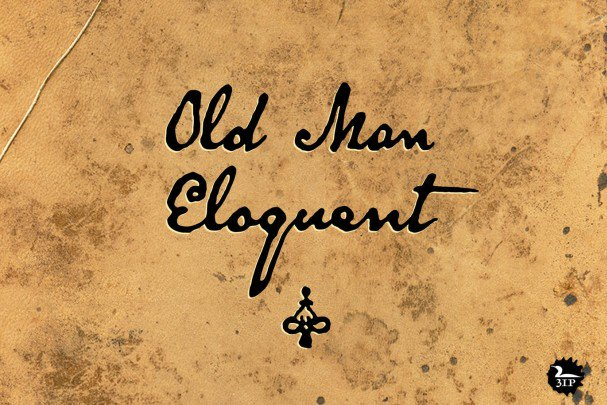 Download Old Man Eloquent font (typeface)