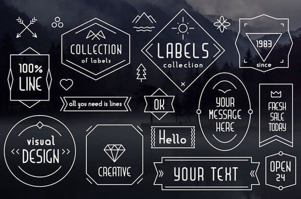 Download Liner| font for logos with frames font (typeface)