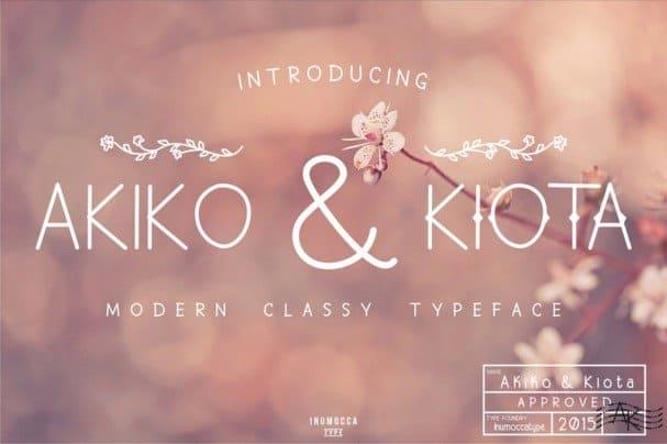 Download Akiko & Kiota font (typeface)