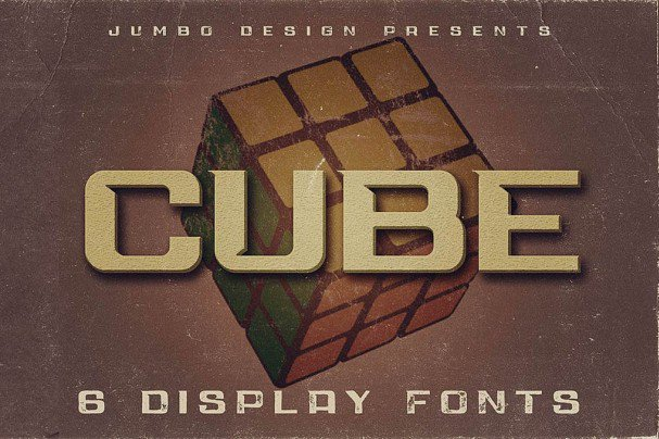Download Cube - Display Font font (typeface)