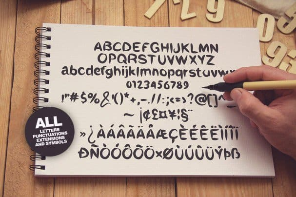 Download Mikelin Family Typeface + Extras font (typeface)