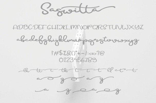 Download Saswitta font (typeface)