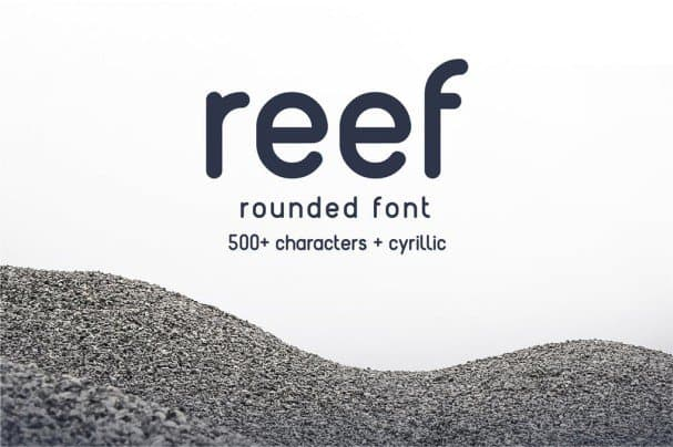 Download Reef - Round font (typeface)
