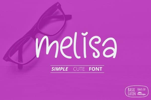Download Melisa Fun font (typeface)