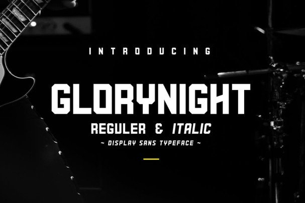 Download Glorynight font (typeface)