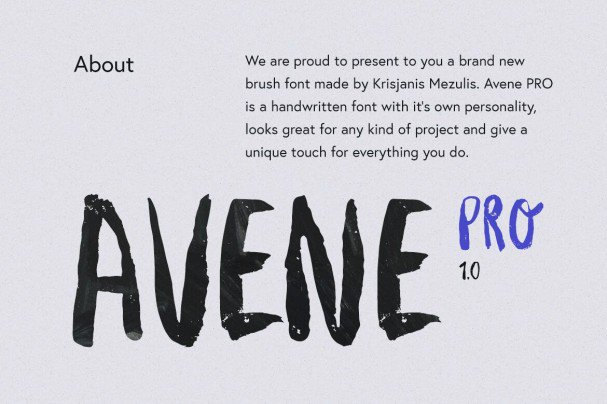 Download Avene PRO Brush Font font (typeface)