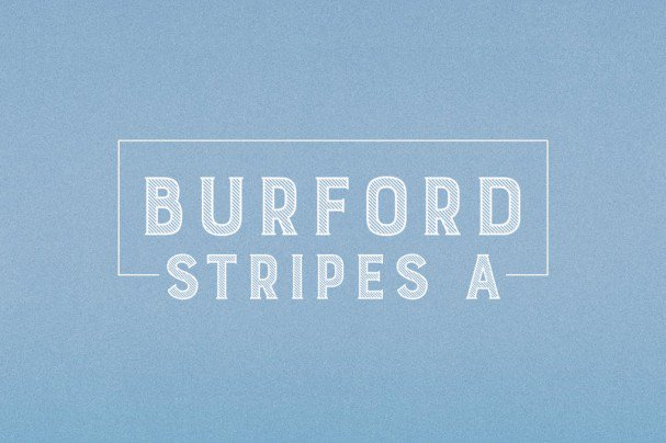 Download Burford Stripes A font (typeface)