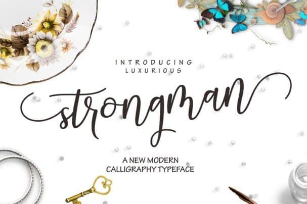 Download Strongman Script font (typeface)