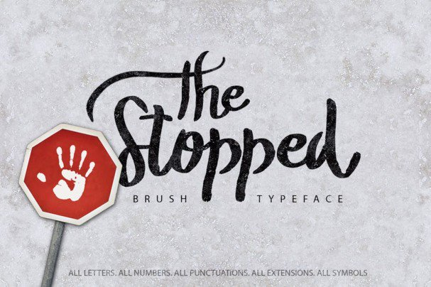 Download The Stopped Brush Typeface font (typeface)