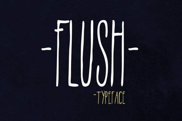 Download Flush font (typeface)