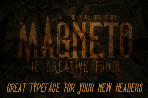 Download Magneto - Vintage Style Font font (typeface)