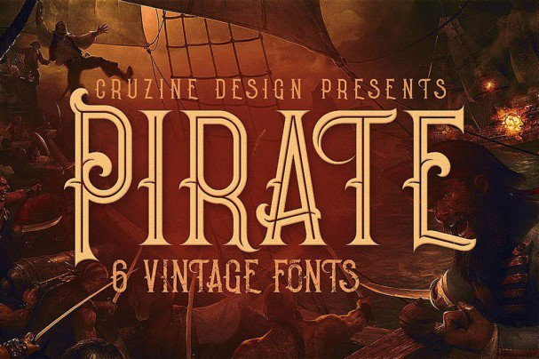 Pirate- Vintage Style Font font free download