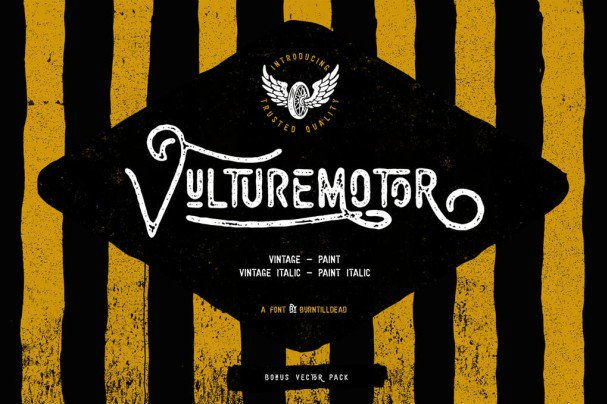 Download Vulturemotor font (typeface)