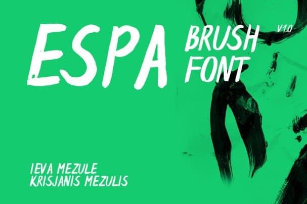 Download Espa Brush Font font (typeface)
