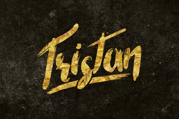 Download Tristan Brush Font font (typeface)
