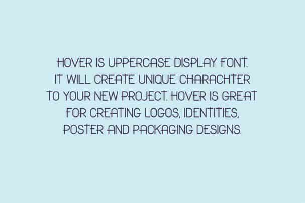 Download Hover Classic Uppercase Only Font font (typeface)
