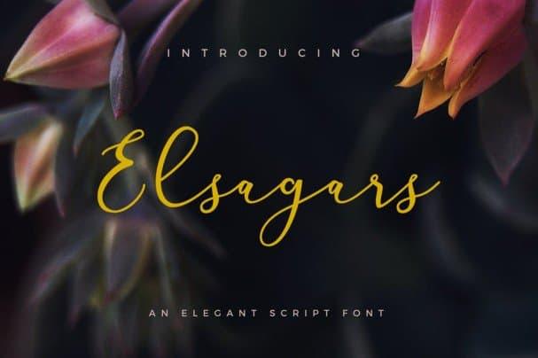 Download Elsagars font (typeface)