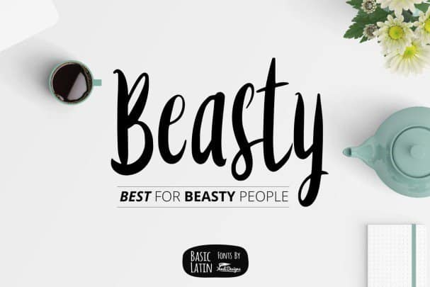 Download Beasty Fonts font (typeface)