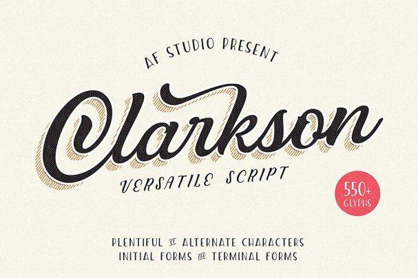 Download Clarkson Script font (typeface)