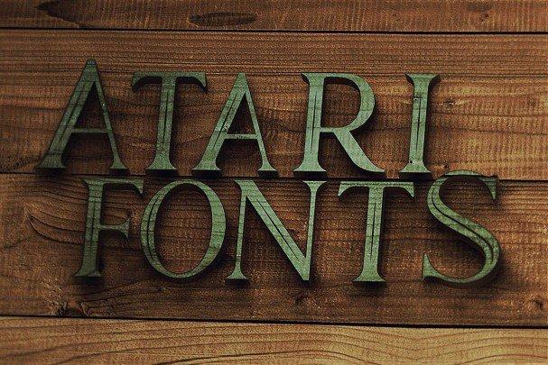 Download Atari - Vintage Style Font font (typeface)